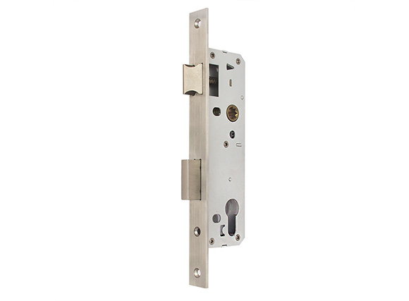Narrow stile stainless steel mortise lock