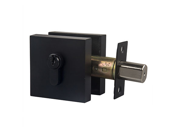 black zinc alloy deadlock