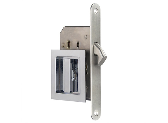 brass sliding door lock