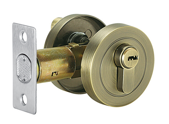 zinc alloy Single Cylinder Satin Nickel or Satin AB Deadbolt