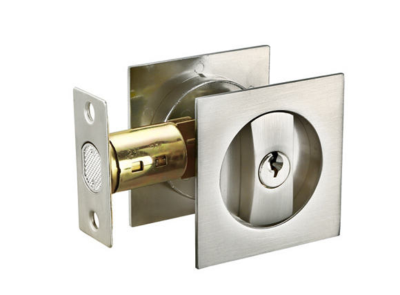 zinc alloy square sliding pocket door bathroom lock