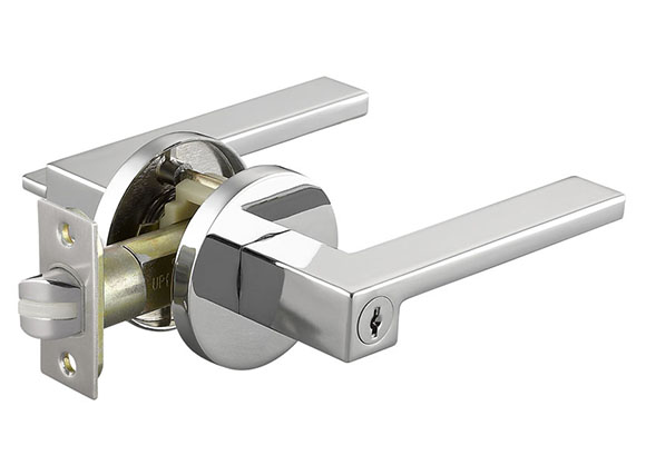 Round Lock Door Locks Levers,3-Column Silent Door Lock With Key For Interior Bedroom Bathroom Minimalist American,black_Short tongue