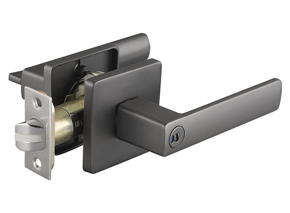 Black Silent Door Lock, Simple Interior Door Lock Bearing Lock Handle