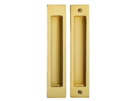 Brushed brass zinc alloy steuro profile sliding door lock