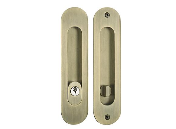 flush sliding door lock