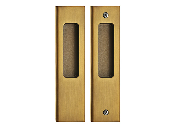 copper-colored zinc alloy guardian sliding door lock