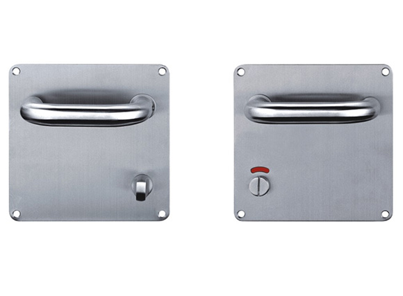 Stainless Steel, Round Handle Door Pull Plate with indicator
