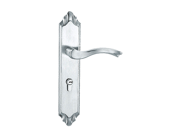 Curved Lever Latch Handles on Back Plate Polished Chrome or SSS
