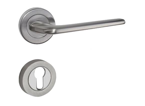 Shiny silver/zinc alloy door handle Bedroom door lock Split Silent door lock