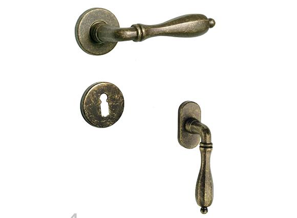 zinc alloy Door Handles Nickel Classic