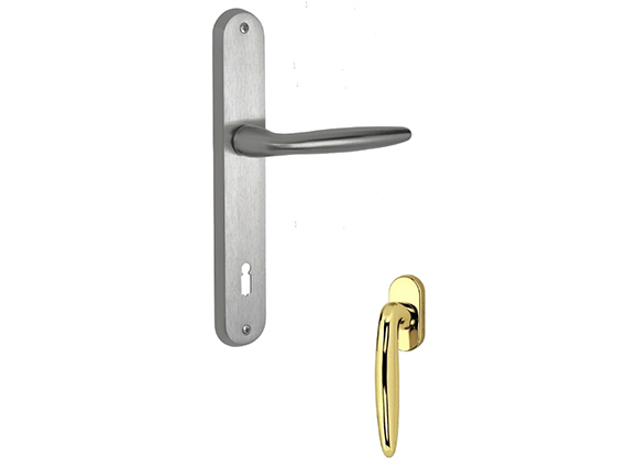 Brass Door Handle Lever Latch Polished Brass finish