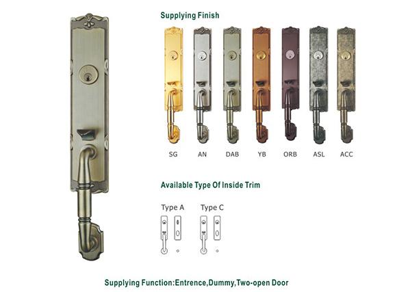 Ech Hot Sales Price Security European Style Antique Bronze Zinc Entrance Plated Door Handles Door Lock