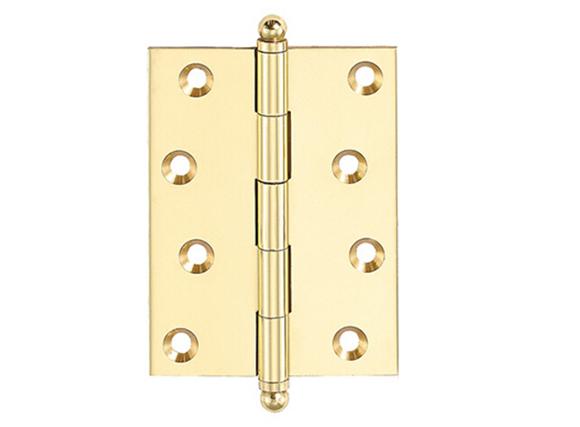 square butt brass hinge
