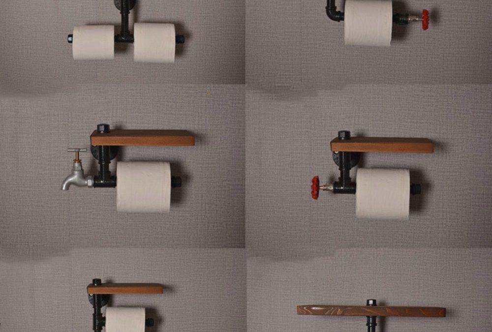 pipe paper holder